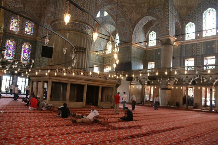 """""""这不只是个建筑,这是艺术!进去清真寺内..._苏丹艾哈迈德清真寺""""的评论图片"""
