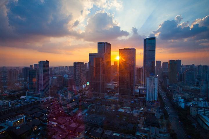 """值得推广.如果遇上美丽的日落,就更完美了_成都远洋太古里""""的评论图片"""