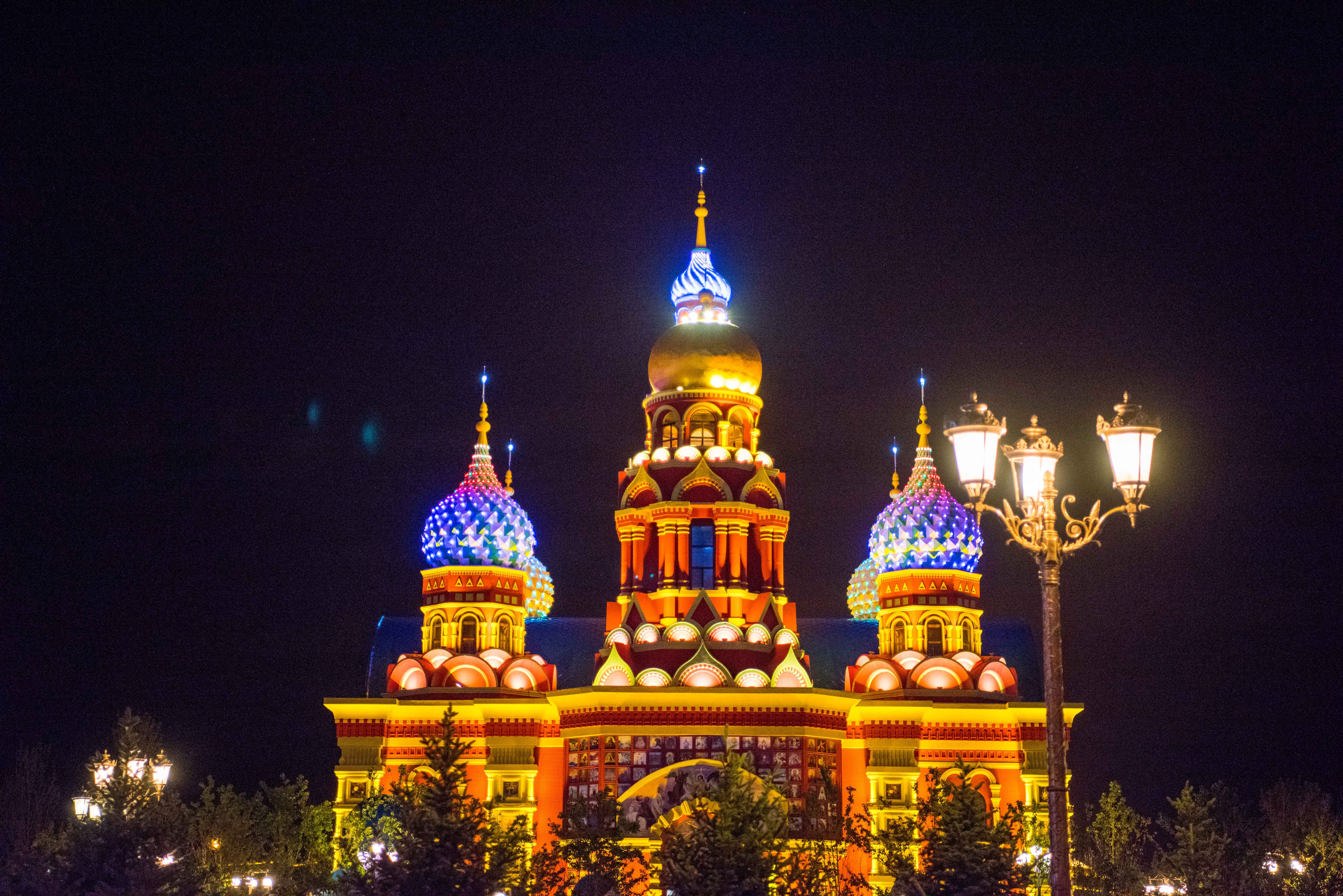 俄罗斯风格的城堡.