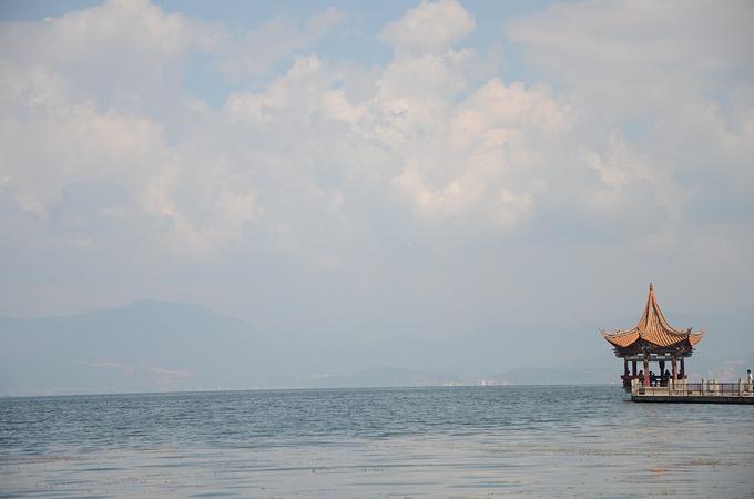 水墨素材洱海中秋