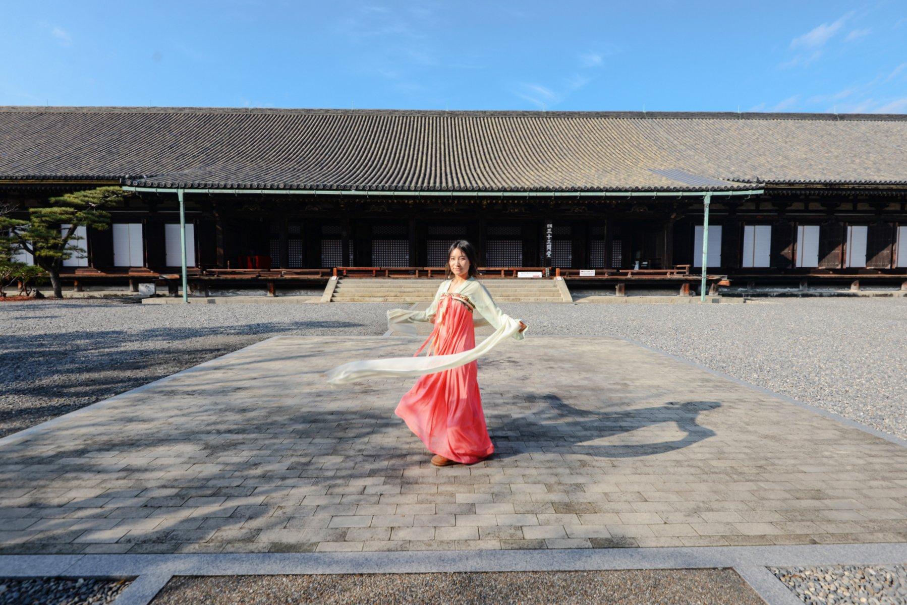 京都:穿着汉服,在日本来一场中国的穿越礼