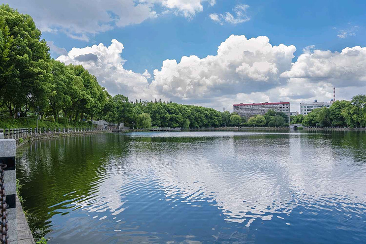 游乐园,往右是人工湖,湖这边风景比较好,值得花时间观赏,特别是夏季过
