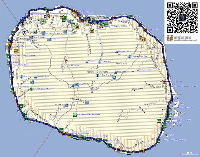 拉罗汤加岛环岛公路转一圈距离接近33km,与北京二环路一圈的32.