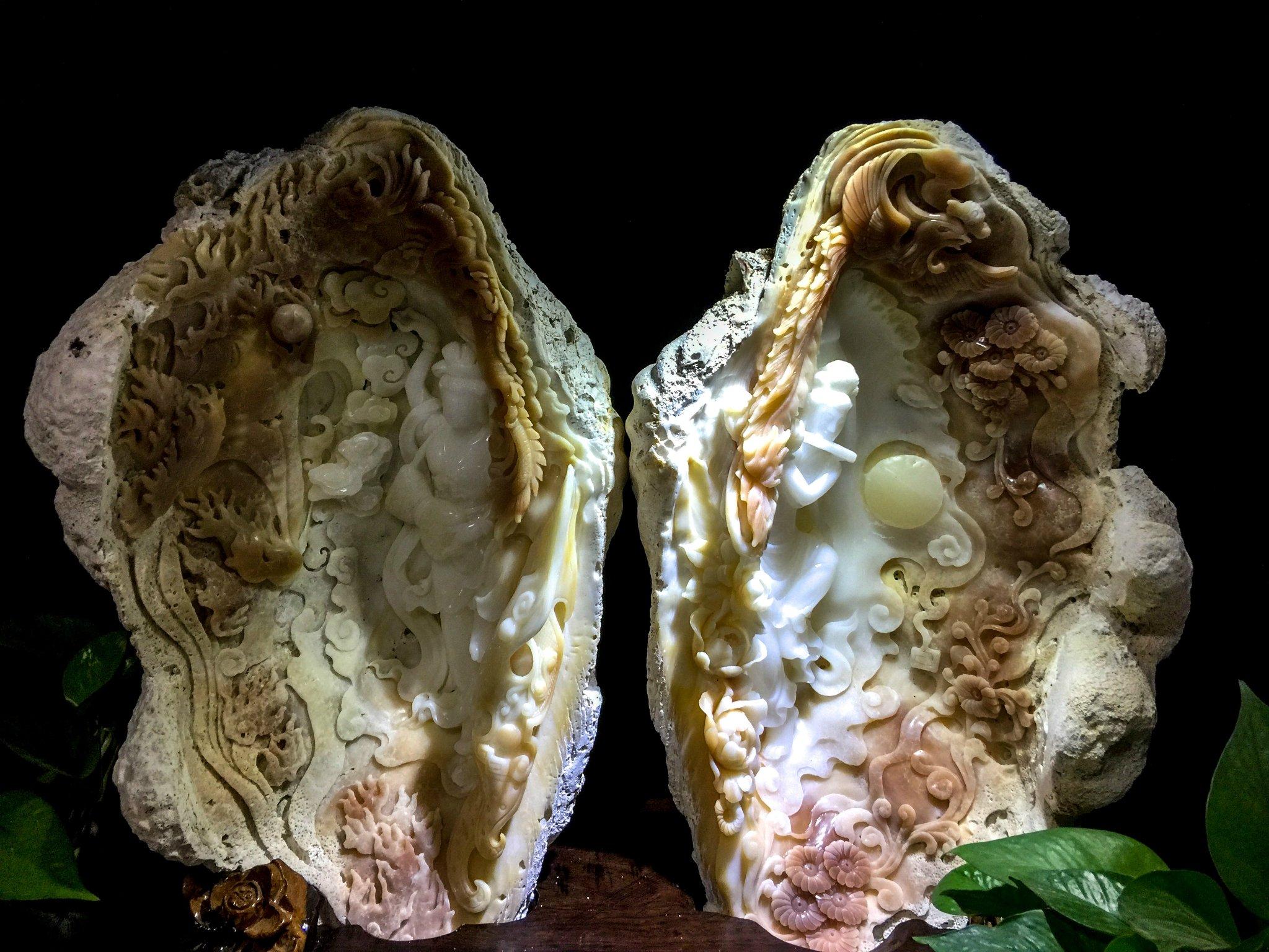 """砗磲是软体动物门双壳纲的海洋动物,是海洋中最大的双壳贝类,被称为"""""""