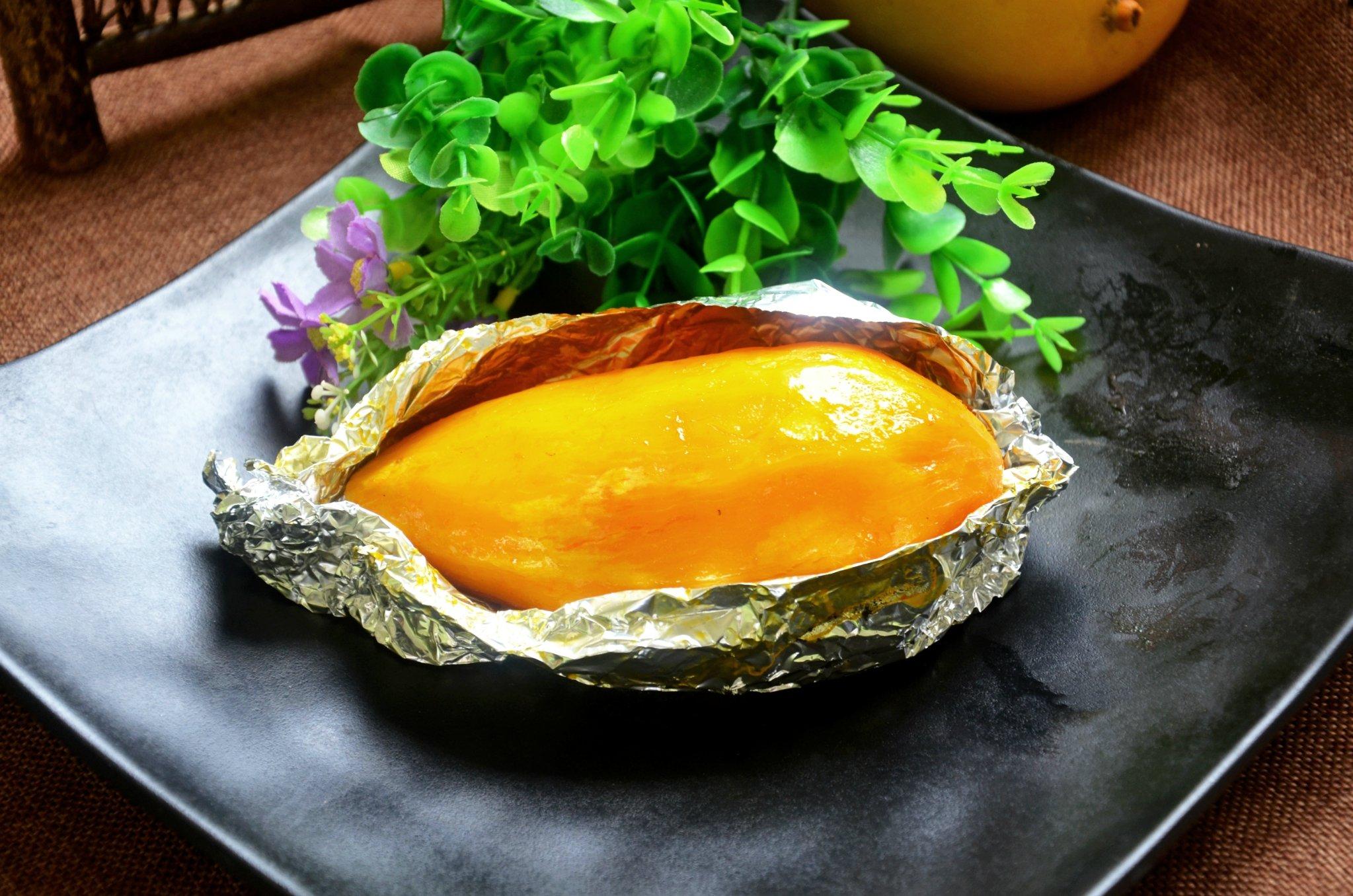 烤红薯的诱惑—蜜薯烤出来怎么这么好吃?