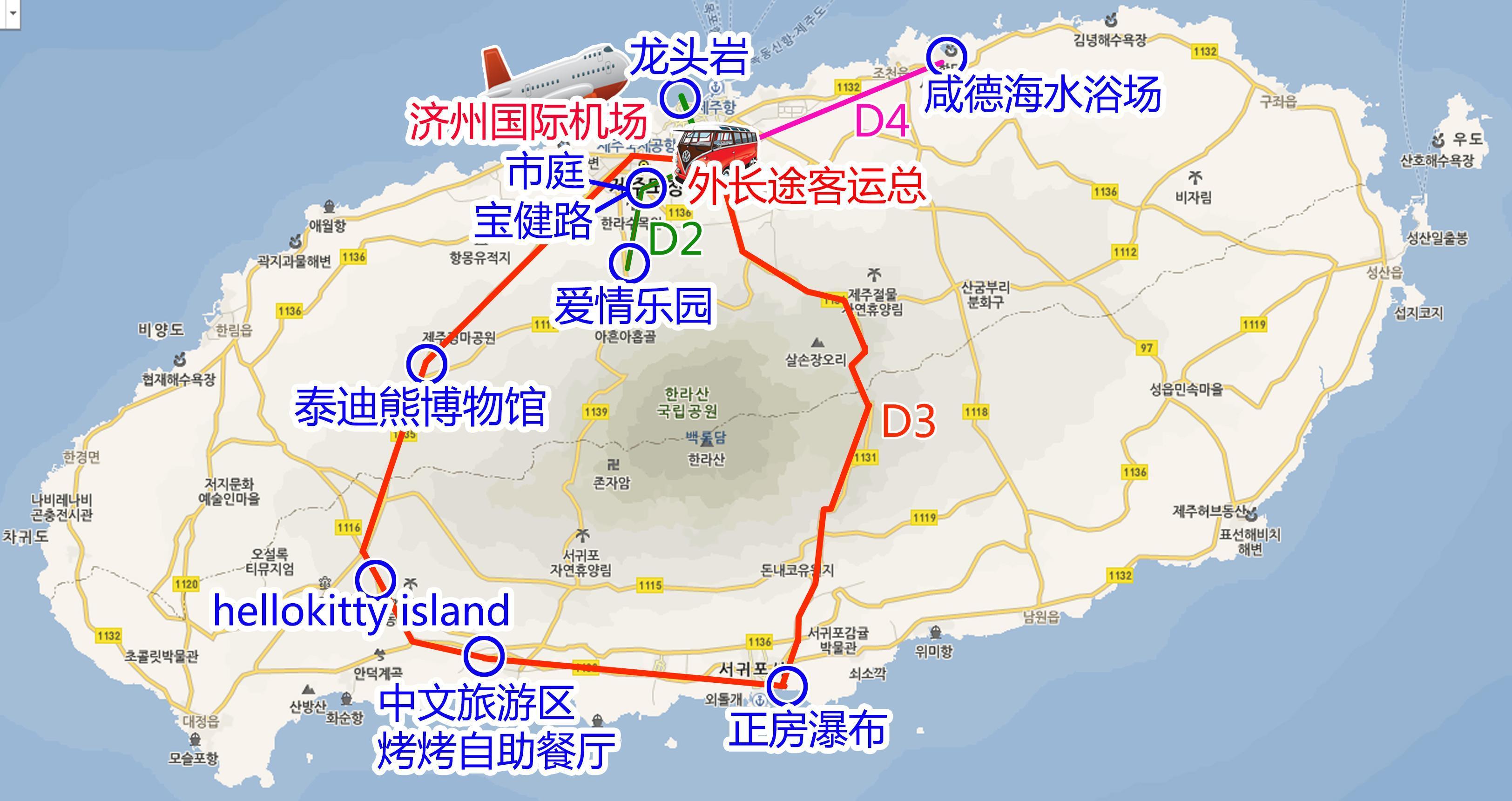济州岛地图【相关词_ 济州岛地图中文版】