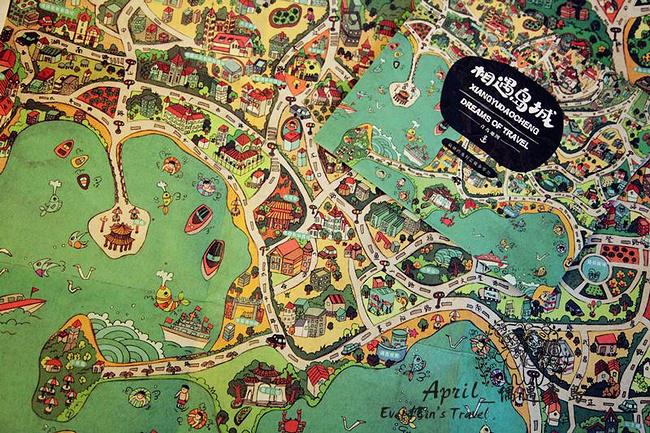 青岛手绘地图