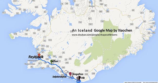 冰岛南岸地图