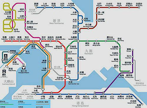 香港地铁 香港地铁地图