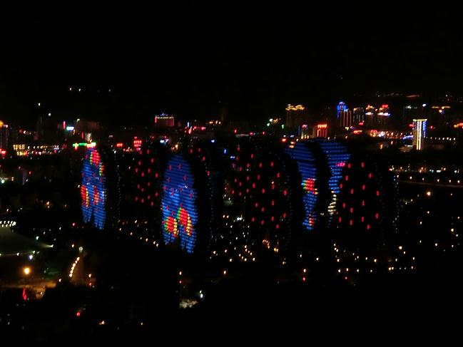 三亚临春森林公园夜景图片