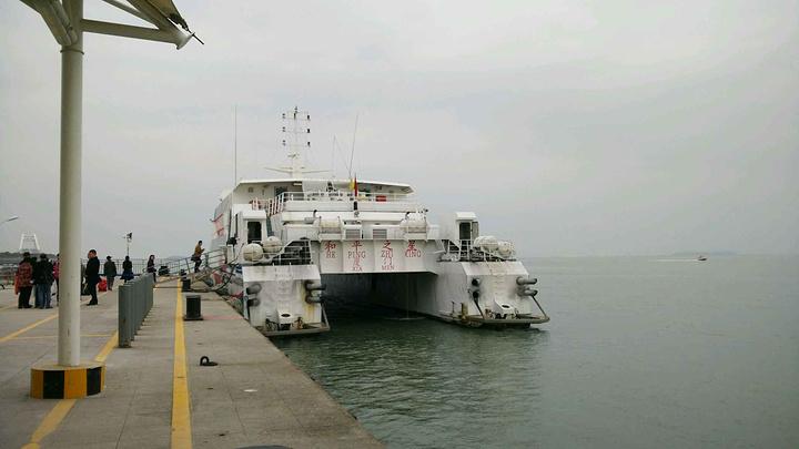 2015清晨到五通码头乘船去金门,提前没有买到