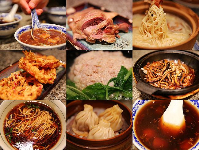 南京小吃的手绘素材