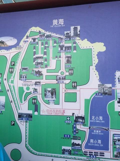 蓬莱阁景区示意图,记得一定要请导游,景点都很有故事来头的哦.