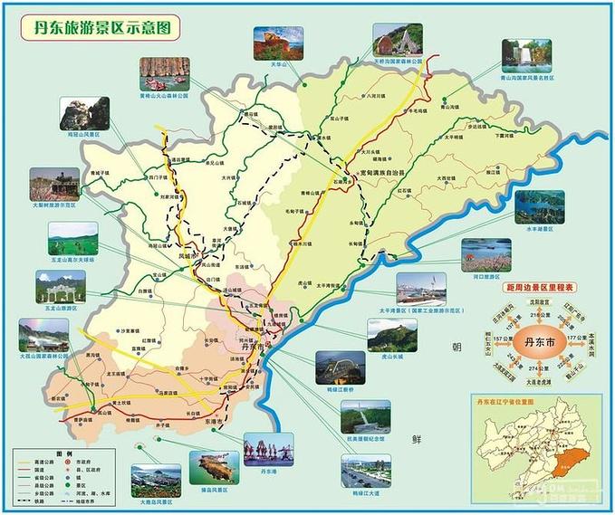 丹东市旅游地图