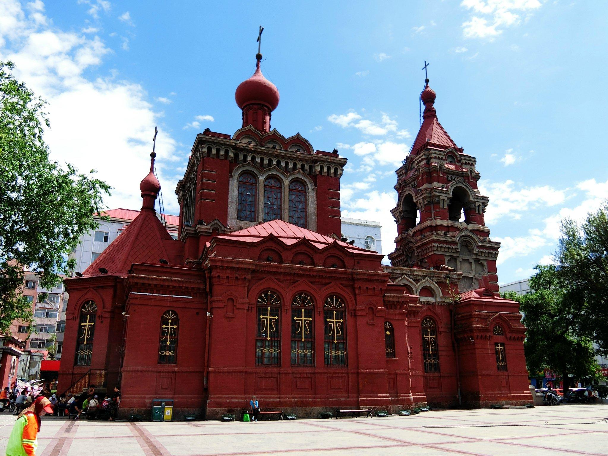 圣·阿列克谢耶夫教堂原为设在公主岭的随军教堂,日俄战后迁哈尔滨,几