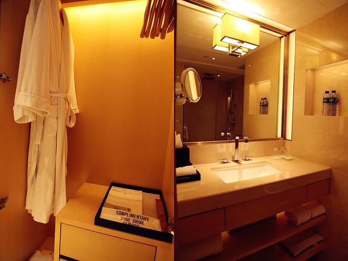 酒店客房的衣柜及洗手间