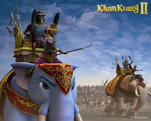 骑在甘桂背上的便是在泰国历史上赫赫有名的纳瑞宣