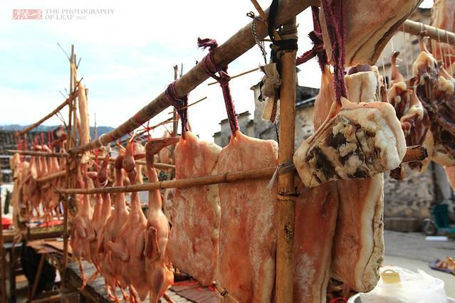 猪肉水墨海报素材