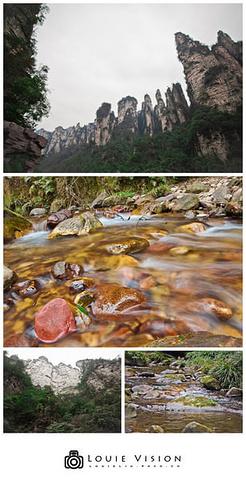 金鞭溪的石头 拍摄地点:张家界金鞭溪-2015天下第一桥是天然形成图片