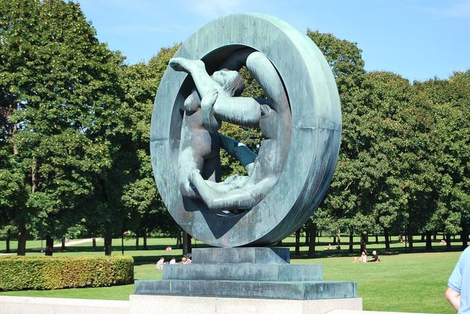 维格兰雕塑公园图片