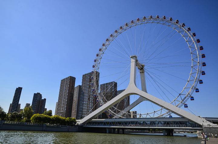 """是天津旅游必选景点之一_天津之眼摩天轮""""的评论图片"""