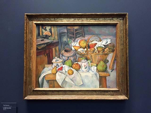 另一位印象派大师——塞尚的静物画,是他最拿手的一个绘画题材.-