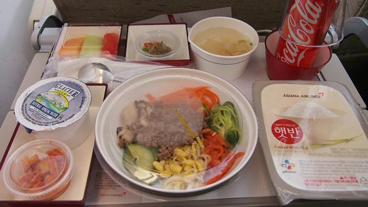 韩亚航空的飞机餐,在美国9天的感觉就是