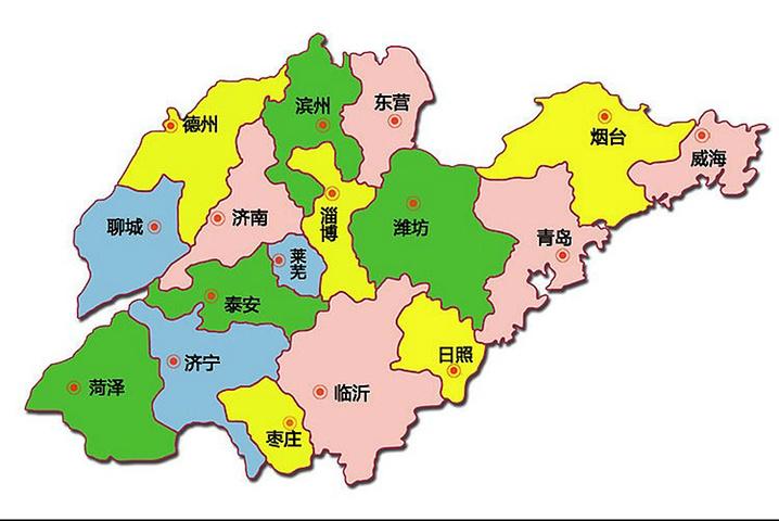 (附山东地图)