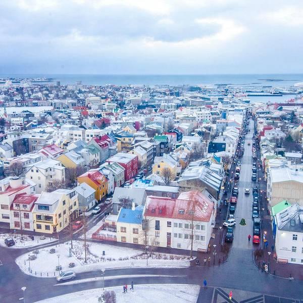 冰岛最大的教堂,可以俯瞰雷克雅未克萌萌的小城市,上观景台要花钱的