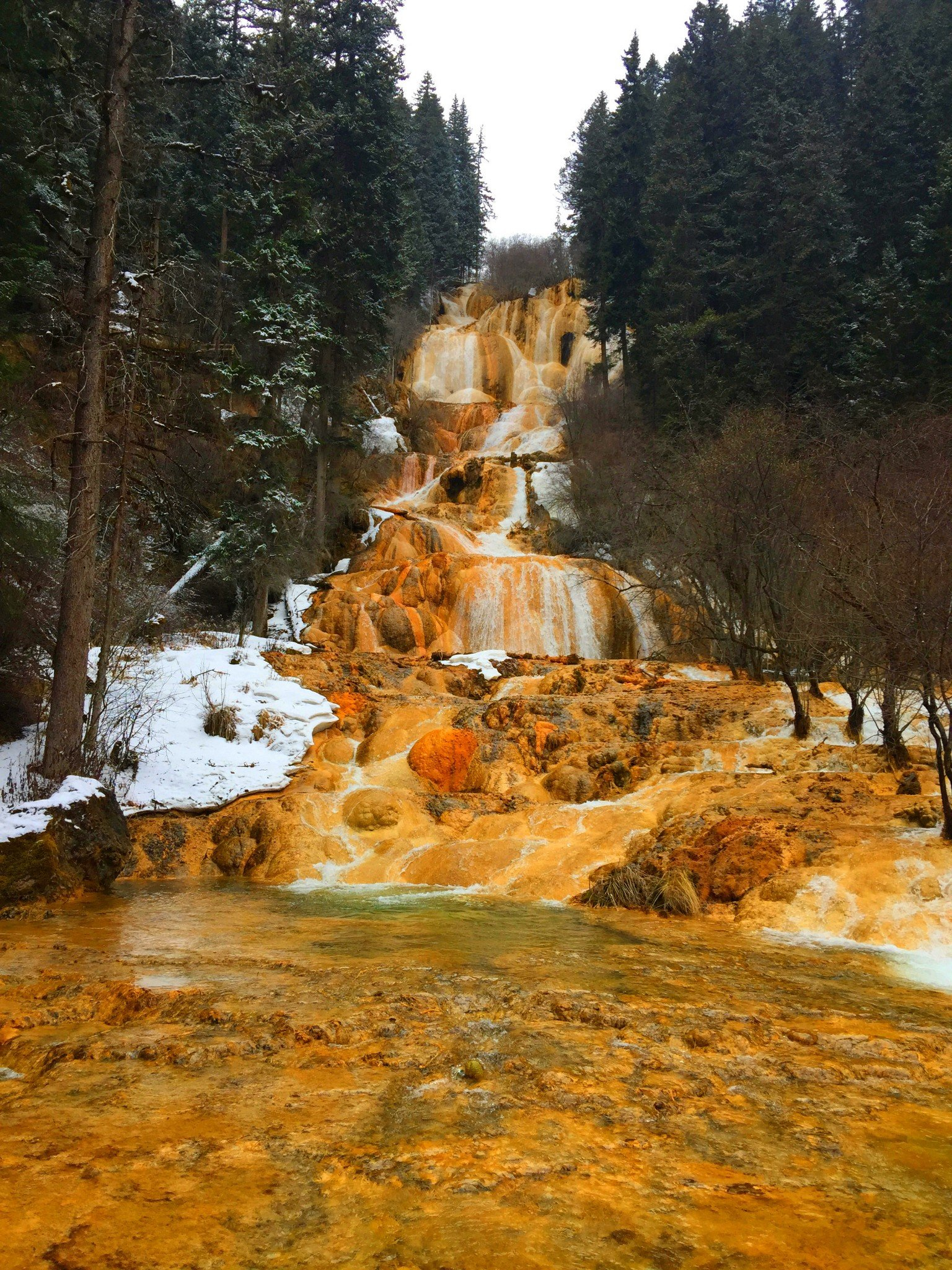 2018牟尼沟风景区游玩攻略,现在瀑布的水流量小等到.