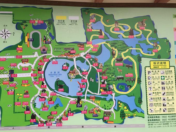发现动物公园平面布局
