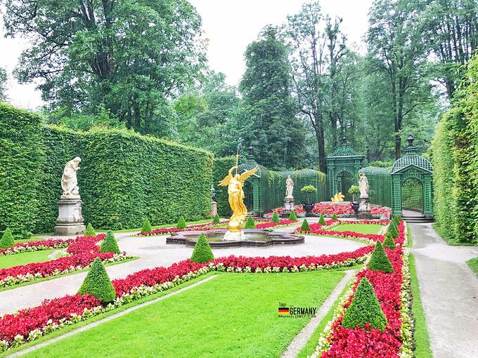 西格弗里德在林德霍夫宫周围分布着风格各异的意大利,法国和英国标准查园林v标准机械的书图片