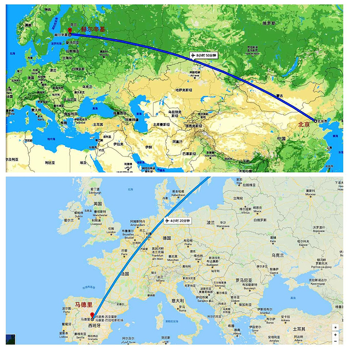 马德里旅游地图