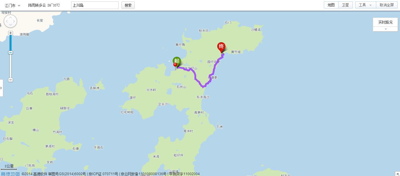 上川岛地处广东省台山市西南部,屹立于南海之中,其东邻港,澳地区及