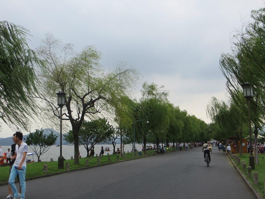 4用自行车游了西湖一圈,没有一定的线路,手 西湖评论 去哪儿攻