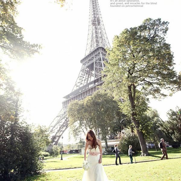 婚纱拍摄地点二:巴黎铁塔 不知从什么时候开始巴黎铁塔这个巨大的