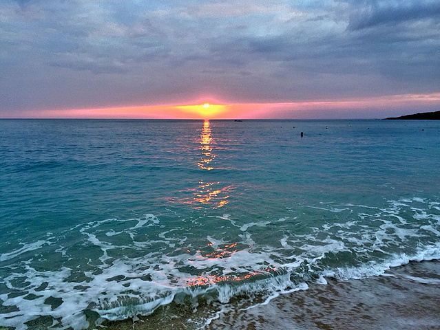 2016在白沙湾看日落是很好的选择哦 看完 白沙湾海水浴场评论 去哪儿攻略社区图片