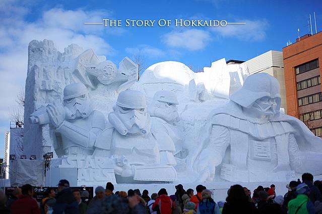 星球大战的雪雕是今年冰雪节主推的作品,猪流先森说已经雕刻得很细致