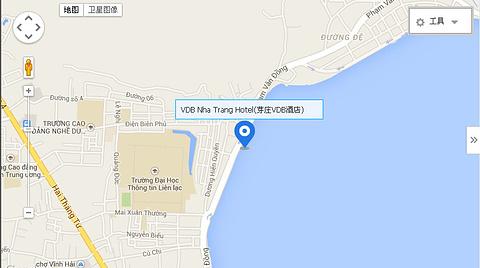 芽庄珍珠岛酒店地图