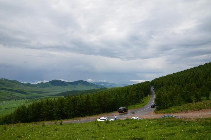 11点30分准时到达桦皮岭入口处,网友都说从这段近景色比较好,因为草原