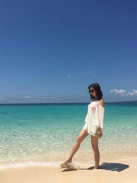2016-04-07 08:53海边恋人 puka海滩是真心美啊,人比dmall那.