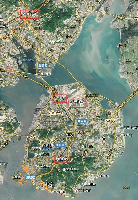厦门有一个飞机场和三个火车站
