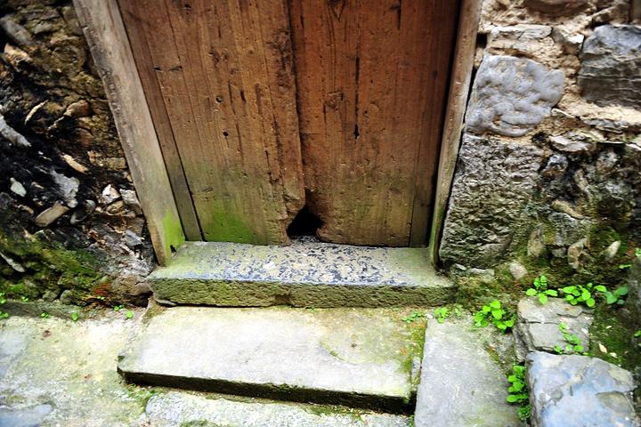 看这入户门下面的猫狗洞,便可知这墙门有多古老.曾经的码头卸货通道