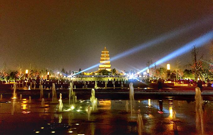 大雁塔北广场音乐喷泉图片图片