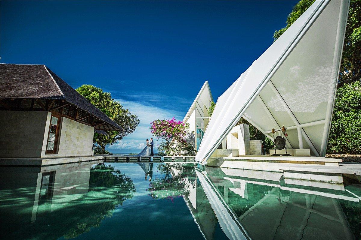 巴厘岛明星同款婚礼场地----水之教堂