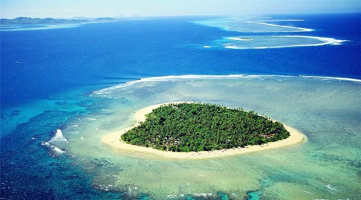 珊瑚礁岛屿简笔画