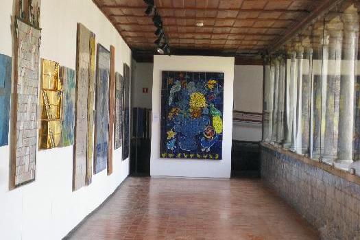 现代艺术长廊手绘图
