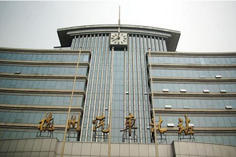 杭州汽车北站到西湖怎么走呢?   (线路1: 从杭州市汽车北站出高清图片
