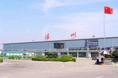 温州龙湾国际机场怎样画鹦鹉牡丹图片