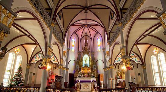 欧式教堂内部图片
